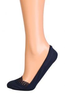 MACRAME dark blue footies with a lace edge | Sokisahtel
