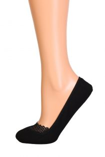 MERLETTO black footies with a lace edge | Sokisahtel