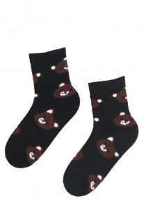 MILA musta värvi karudega soojad sokid | Sokisahtel