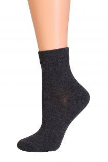 Женские теплые носки темно-серого цвета из кашемира DALIA | Sokisahtel