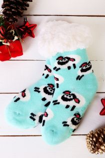 NIILO cute mint anti-slip home socks for kids | Sokisahtel
