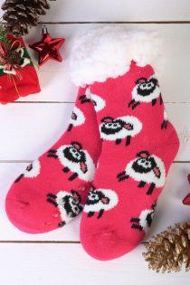 NIILO cute pink anti-slip home socks for kids | Sokisahtel