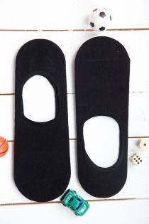 Низкие мужские носки MAN черного цвета | Sokisahtel