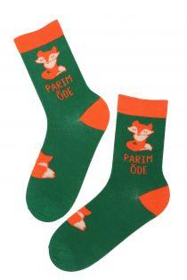 PARIM ÕDE (BEST SISTER) green cotton socks for women | Sokisahtel