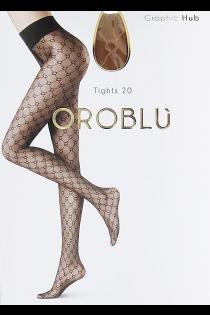Oroblu GRAPHIC HUB 20DEN nahatooni sukkpüksid | Sokisahtel