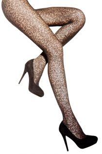 Женские колготки черного цвета с анималистичным принтом PANTHER 40DEN | Sokisahtel