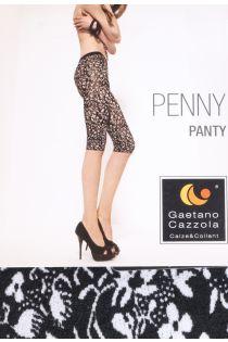 Женские рейтузы-капри черно-белого цвета с орнаментальным цветочным узором PENNY Gaetano Cazzolla | Sokisahtel