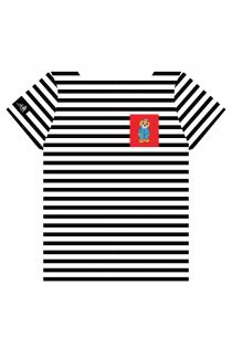 Полосатая футболка с нагрудным кармашком красного цвета THE TALL SHIPS RACES 2021 | Sokisahtel