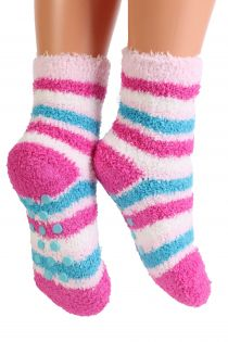 RONJA cozy pink home socks for kids | Sokisahtel