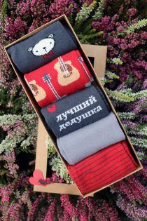 TAUNO isadepäeva kinkekarp 5 sokipaariga vene keeles | Sokisahtel