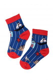 SEA marine themed cotton socks for kids | Sokisahtel