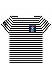 Полосатая футболка с нагрудным кармашком синего цвета THE TALL SHIPS RACES 2021 | Sokisahtel