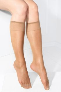 SMART TIGHTS beige 30 DEN quickly biodegrading knee-highs | Sokisahtel