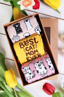 PAWS UP Mother's Day gift box with 3 pairs of socks | Sokisahtel