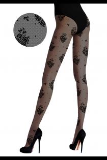 FLOREALE lilledega mustad sukkpüksid | Sokisahtel