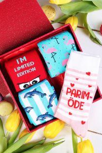 PARIM ÕDE(BEST SISTER) gift box for women 4 pairs of socks | Sokisahtel