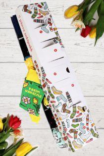 PARIM VANAEMA(BEST GRANDMA) Mother's Day surprise box with 7 sock pairs for every week day | Sokisahtel