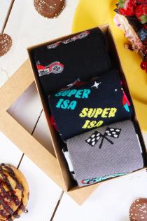 Isadepäeva kinkekarp 3 sokipaariga SUPER RACER Ettetellimisel, saadame välja 1.nov | Sokisahtel