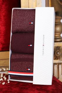 TOMMY HILFIGER punane 3 sokipaariga kinkekarp | Sokisahtel