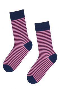 REINOLD stylish pink-purple striped suit socks | Sokisahtel