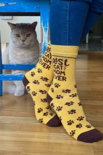 BEST CAT MOM cotton socks | Sokisahtel
