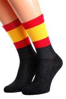 Хлопковые носки для женщин и мужчин с испанским флагом SPAIN | Sokisahtel