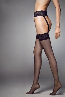 STRIPPANTE SENSUAL 15DEN punase pitsiga sukkpüksid | Sokisahtel