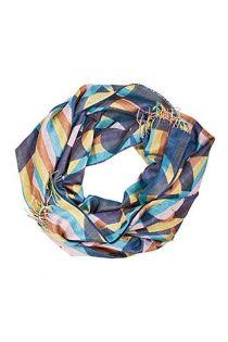 Шаль с полосатым узором разных цветов из смеси шелка и шерсти альпака ALPACA | Sokisahtel