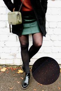 CAREN säravate täppidega musta värvi sukkpüksid | Sokisahtel