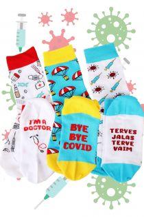 BYEBYE gift box for women containing 3 pairs of socks | Sokisahtel
