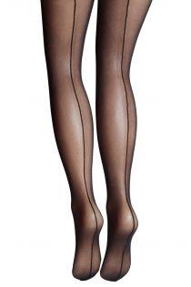 Женские колготки черного цвета из микросетки VALERIA | Sokisahtel