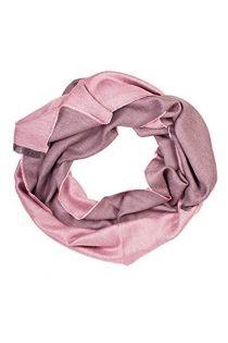 Шаль двусторонняя в оттенках розового цвета из смеси шелка и шерсти альпака ALPACA | Sokisahtel