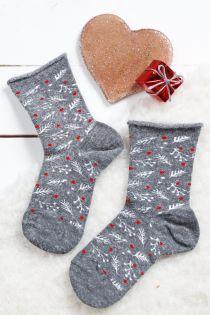 WONDERLAND grey angora socks for children | Sokisahtel