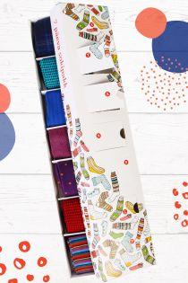 Подарочный набор из 7 пар солидных и ярких носков на каждый день недели SOLIIDNE (набор костюмный)   Sokisahtel