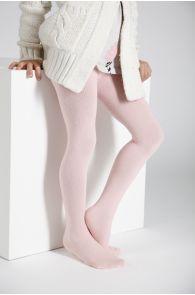 Детские однотонные хлопковые колготки нежно-розового цвета CALDO   Sokisahtel