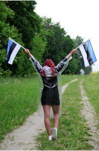 Komplekt vihmamantli, jalanõukaitsmete ja lippudega | Sokisahtel