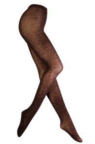 Женские теплые шерстяные колготки коричневого цвета LEENA   Sokisahtel