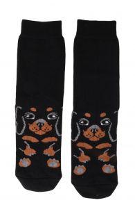 PUPPY musta värvi puuvillased sokid koerasõbrale   Sokisahtel