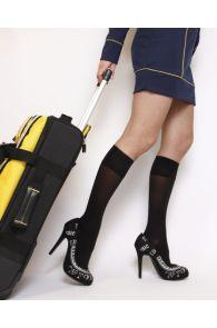 VARIS 70DEN black compression knee-highs | Sokisahtel