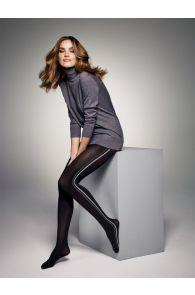 JESS 60DEN mustad halli triibuga sukkpüksid naistele | Sokisahtel