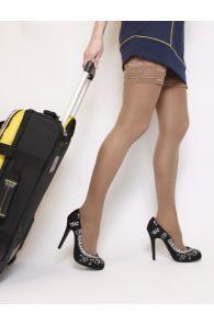 VARIS 140DEN beige support stockings | Sokisahtel