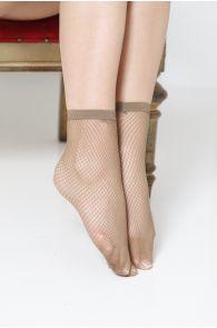 Женские носки в сеточку коричневого цвета RETECOLOR | Sokisahtel
