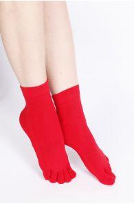 ESTRELLA women's red toe socks   Sokisahtel