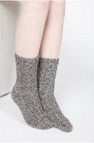Шерстяные коричневые носки WOOL   Sokisahtel
