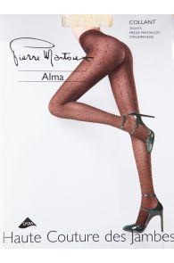 Женские узорчатые колготки оранжевого цвета Pierre Mantoux ALMA | Sokisahtel
