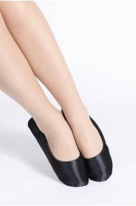 SATIN black slippers for women | Sokisahtel