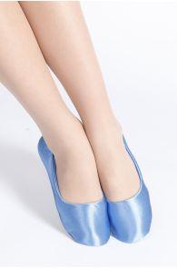 SATIN blue slippers for women | Sokisahtel