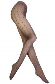Женские элегантные узорчатые колготки розовато-коричневого цвета Pierre Mantoux ALMA | Sokisahtel