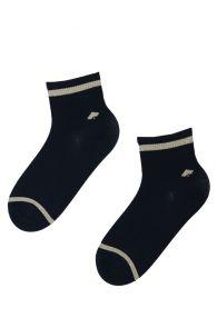 ANGELA blue sparkling cotton socks   Sokisahtel
