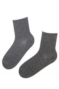 Женские теплые носки серого цвета из шерсти ангоры с удобной резинкой ANNI   Sokisahtel